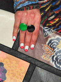 White And Coral Nail Trend Spring 2014