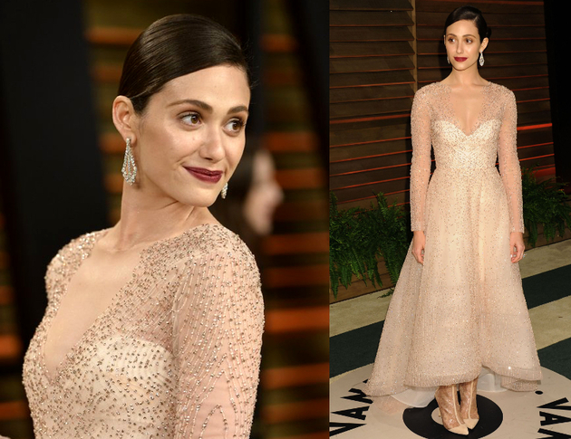 Emmy Rossum Oscars After Party 2014