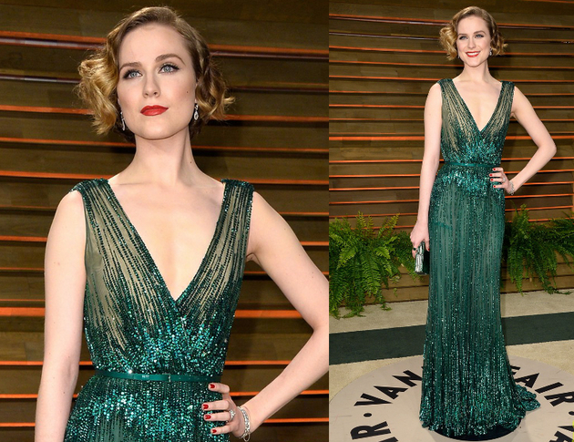 Evan Rachel Wood Oscars After Party 2014