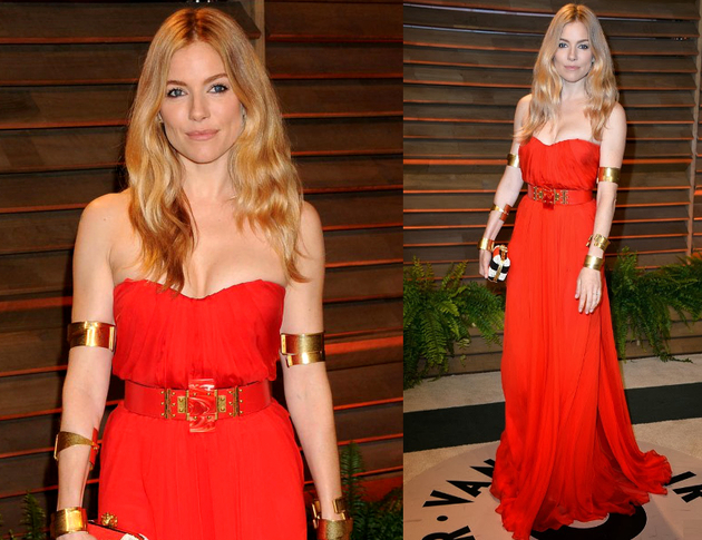Sienna Miller Oscars After Party 2014