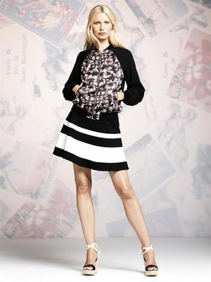 Peter Some For Designation Bomber Jacket And Flare Skirt