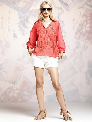 Peter Some For Designation Eyelet Top And Shorts