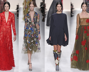 Have a look at the best highlights from the Valentino, Elie Saab, Giambattista Valli, Alexander McQueen and Zuhair Murad fall 2014 collections.