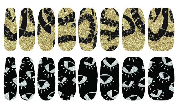 Smashbox The Santigolden Age Nail Polish Art Strips