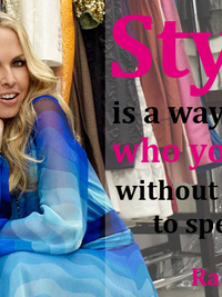 Style Advice from Rachel Zoe