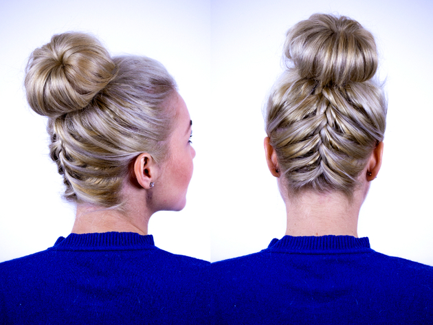 Updo With Upside Down French Braid