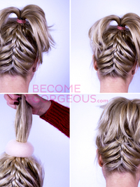 Upside Down French Braid Updo Tutorial