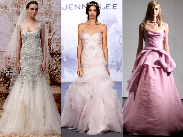 Bridal Dress Color Trends 2014