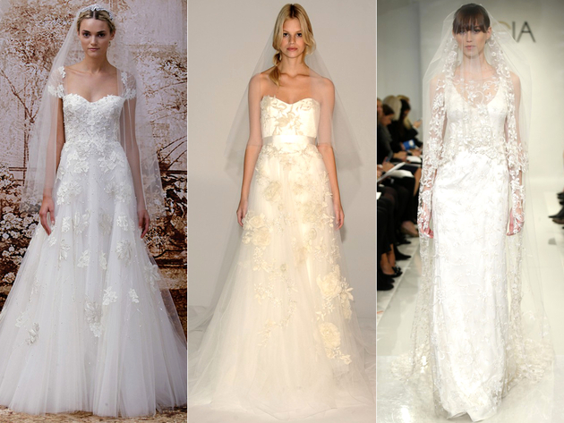 Floral Bridal Dress Trends 2014
