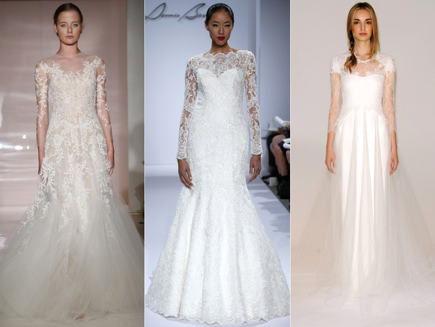 Lace Sleeve Bridal Dress Trends 2014