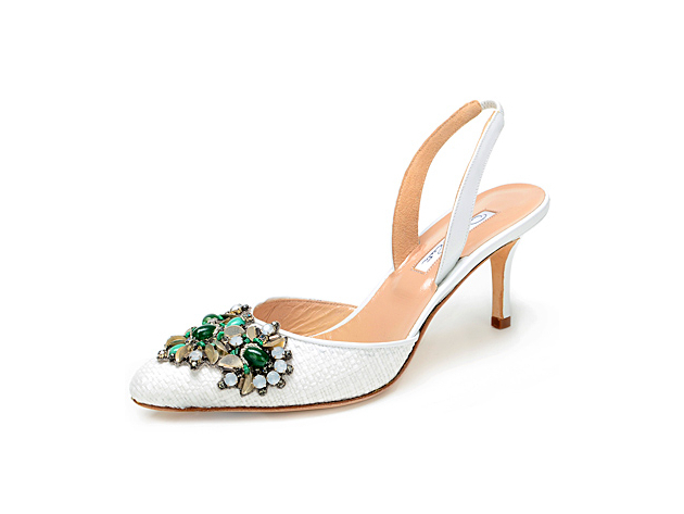 Ornate Wedding Shoes Oscar De La Renta