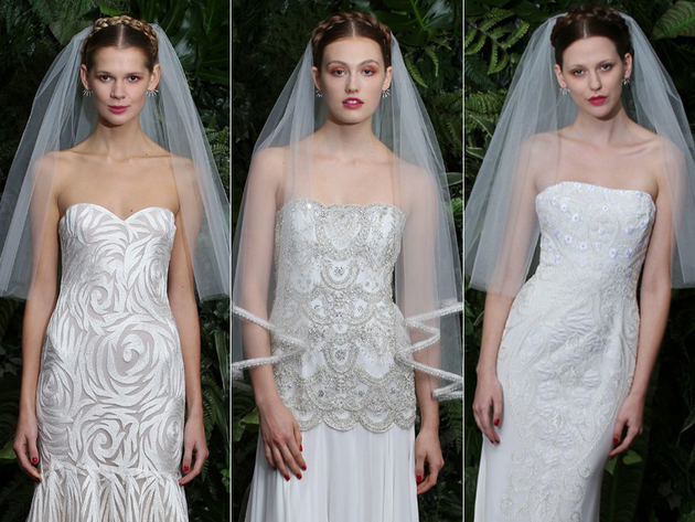 Short Veils Bridal Dress Trends 2014
