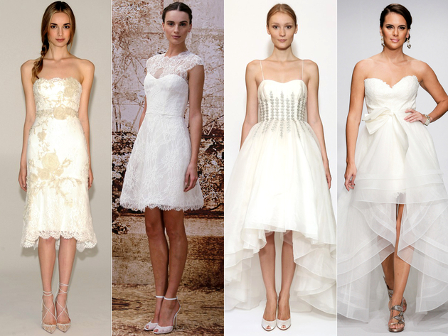 Short Wedding Dress Trends 2014