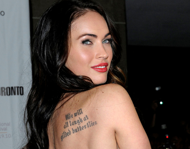 Megan Fox Shakespeare Tattoo