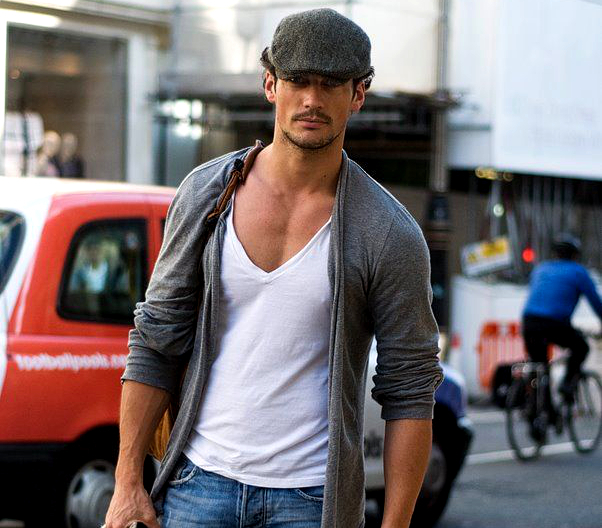 Mens Deep V Neck Top