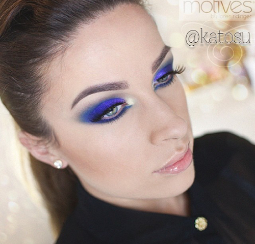 Intense Blue Eye Makeup