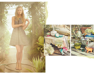 Feminine ensembles with an interesting effortlessly chic allure are the focus of the new Anthropologie April 2014 lookbook. Check it out!