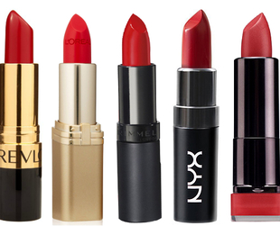If you're looking for the perfect red that doesn't put a dent in your beauty budget, try of these perfect shades of vibrant red lipstick at affordable prices.