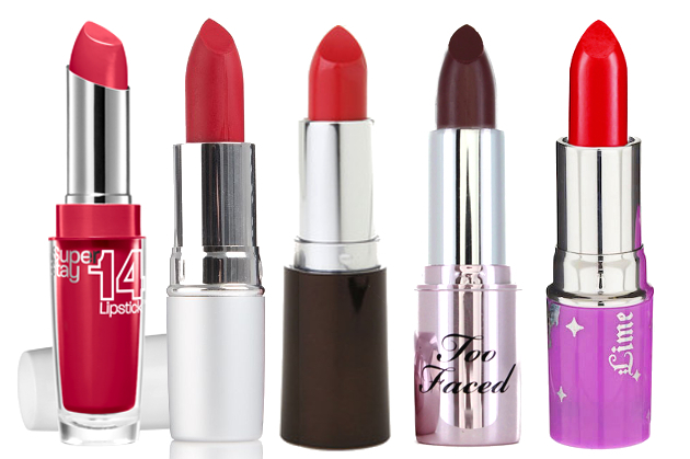 Drugstore Red Lipsticks