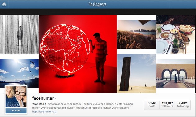 Face Hunter Instagram