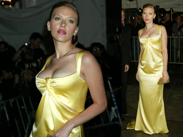 Scarlett Johansson In Calvin Klein Dress