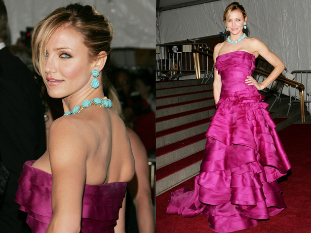 Cameron Diaz In Ruffled Dior Gown