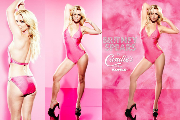 Britney Spears Photoshop Candies Campaign