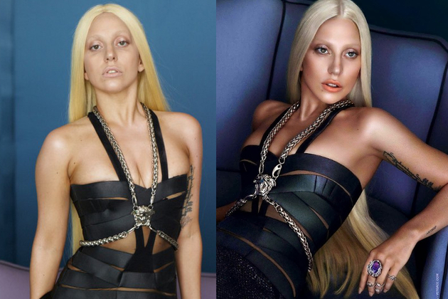 Lady Gaga Before And After Photoshop