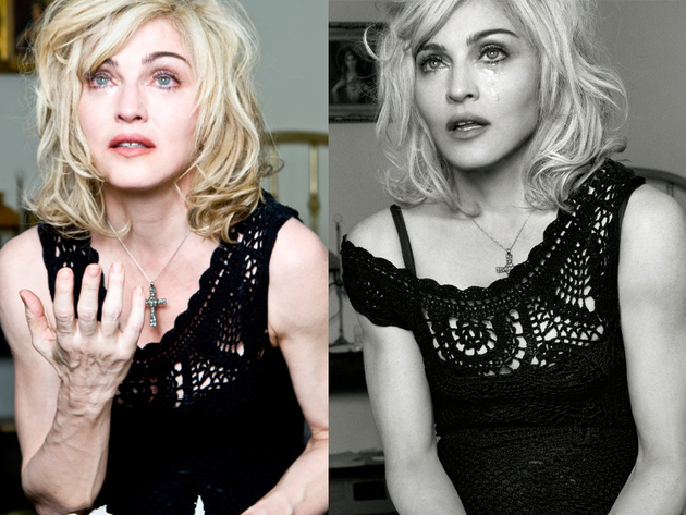 Madonna Photoshopped Photos