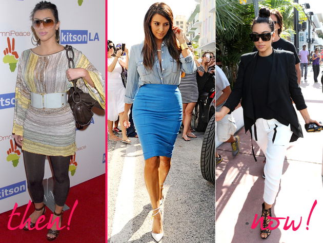 Kim Kardashian Old And New Style