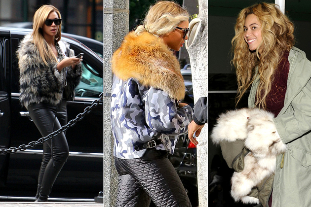 Beyonce Wearing Real Fur