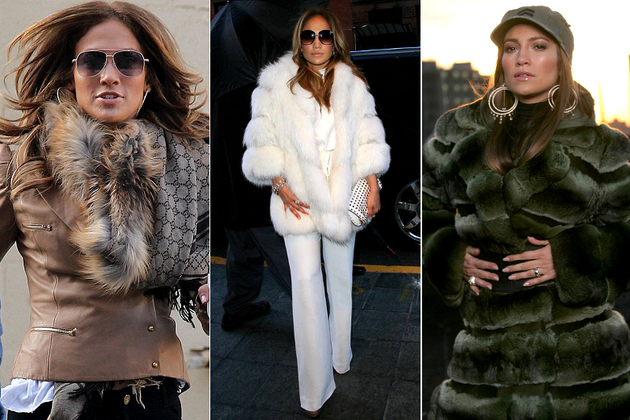 Jennifer Lopez Wearing Real Fur