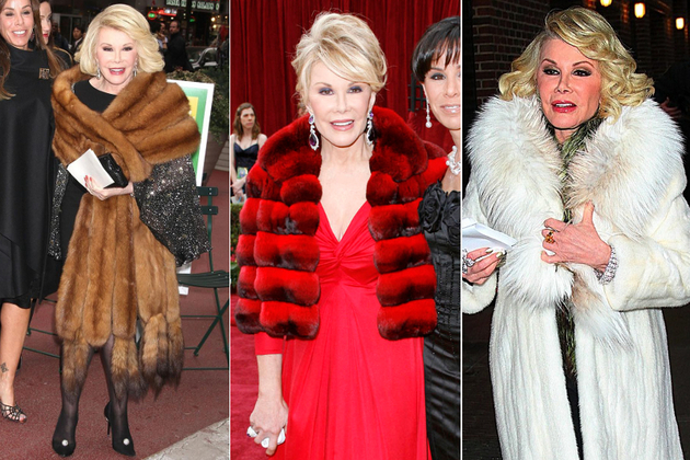 Joan Rivers Wearing Real Fur