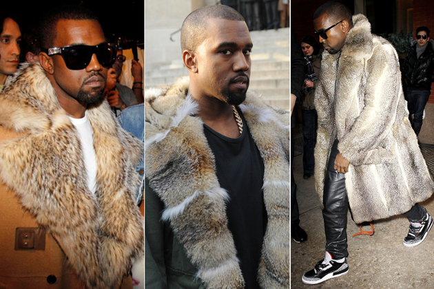 Kanye West Wearing Real Fur