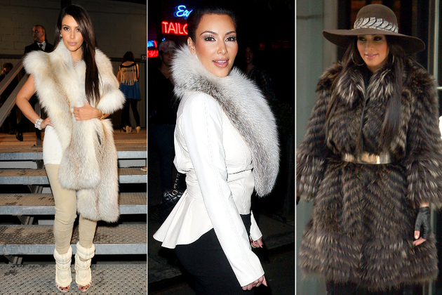 Kim Kardashian Wearing Real Fur