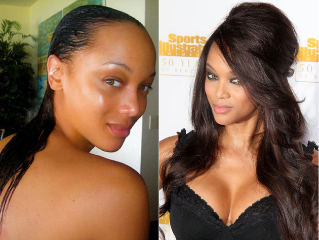Tyra Banks Without Weave