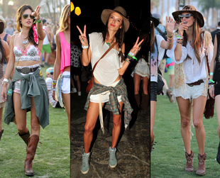 Festival fashion season kicked off with Coachella and many celebrities showed up in their cool festival outfits. See the best dressed stars from Coachella 2014.