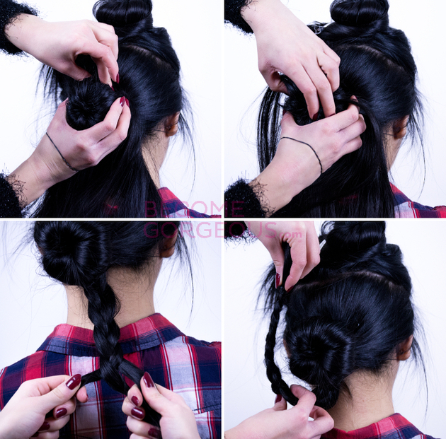 Wrap Around Braid Tutorial Steps
