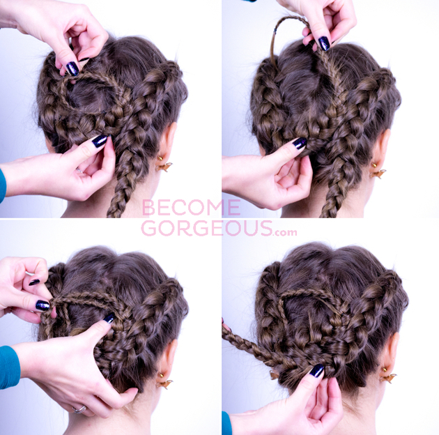 Braided Updo Tutorial Steps