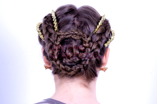 Kelly Osbourne Braided Updo Back View