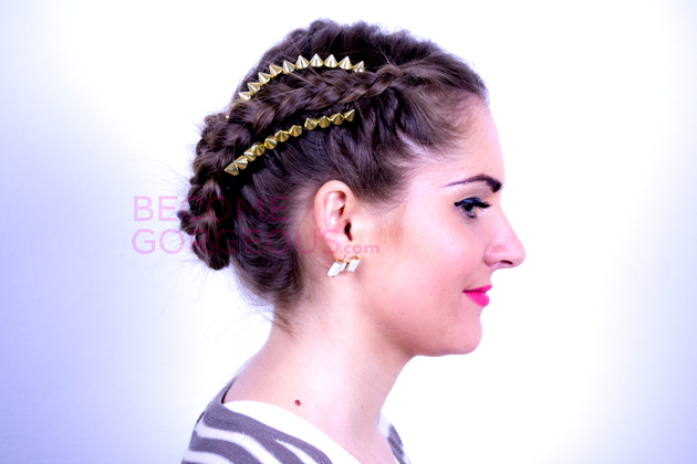 Kelly Osbourne Braided Updo Side View