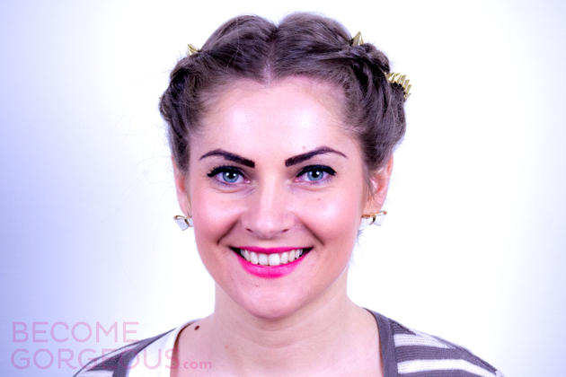 Kelly Osbourne Braided Updo Tutorial Finished Hairstyle