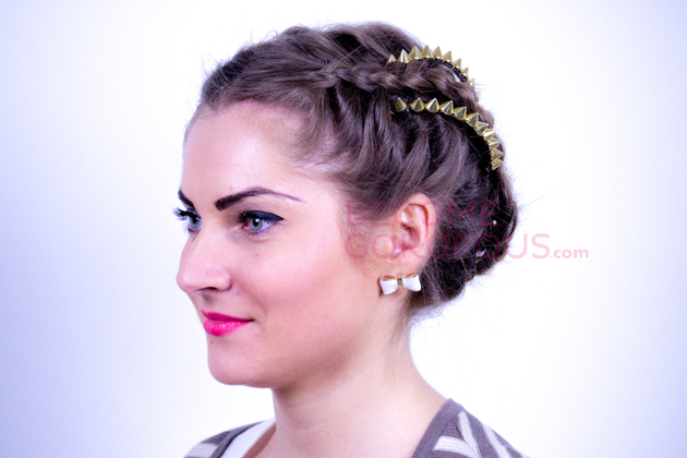 Kelly Osbourne Braided Updo Tutorial