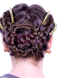 Kelly Osbourne's Braided Updo with Spikes Tutorial