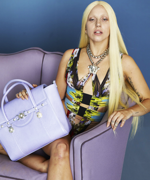 Lady Gaga Unretouched Versace Campaign Photo (4)