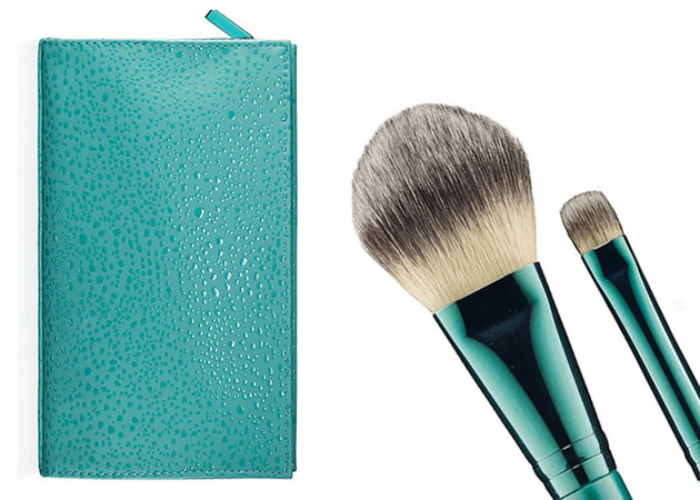 Mac Alluring Aquatic Makeup Bag And Brushes