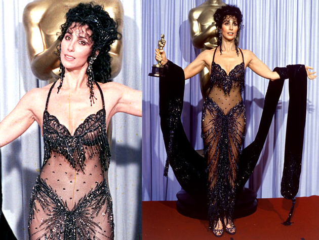 Cher Bob Mackey 1988 Oscar Dress