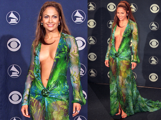 Jennifer Lopez Versace Grammy Awards Dress