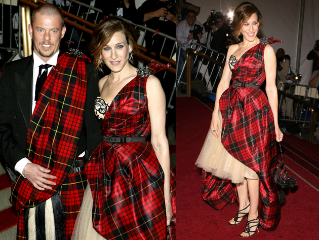 Sarah Jessica Parker Alexander Mc Queen Tartan Dress