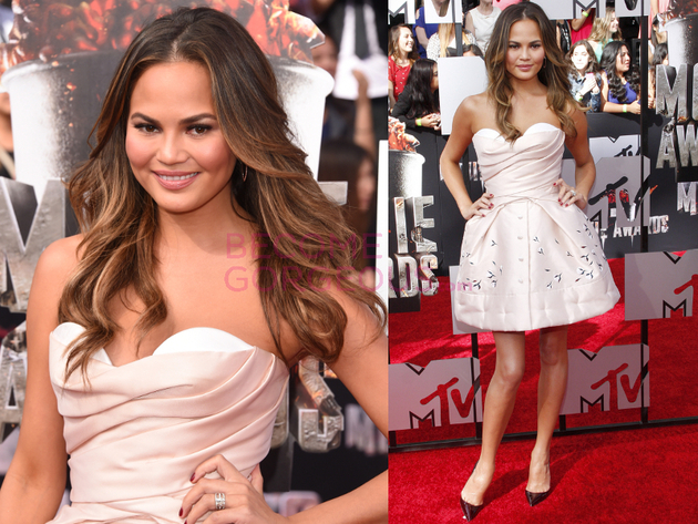 Chrissy Teigen 2014 Movie Awards Dress
